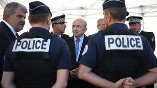 Le ministre de l'Intérieur Gérard Collomb en déplacement à La Rochelle (Charente-Maritime), le 28 octobre 2017. (XAVIER LEOTY / AFP)