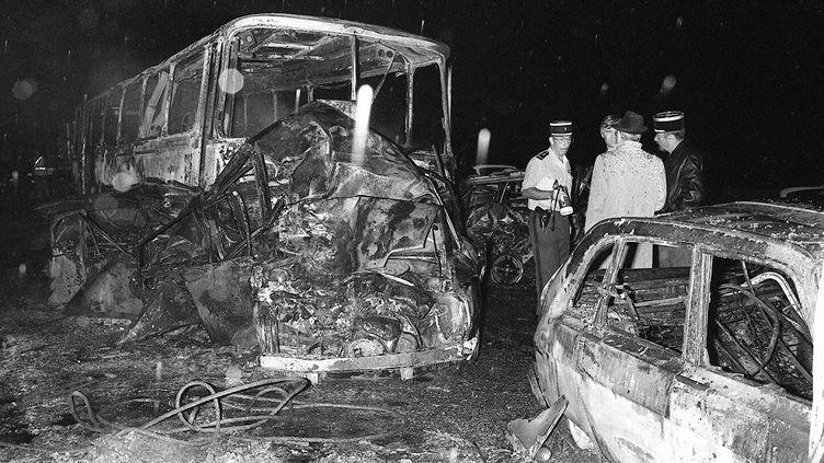 Violent accident à Beaune (Côte-d'Or) qui avait causé la mort de 53 personnes le 31 juillet 1982. (ERIC FEFERBERG / AFP)