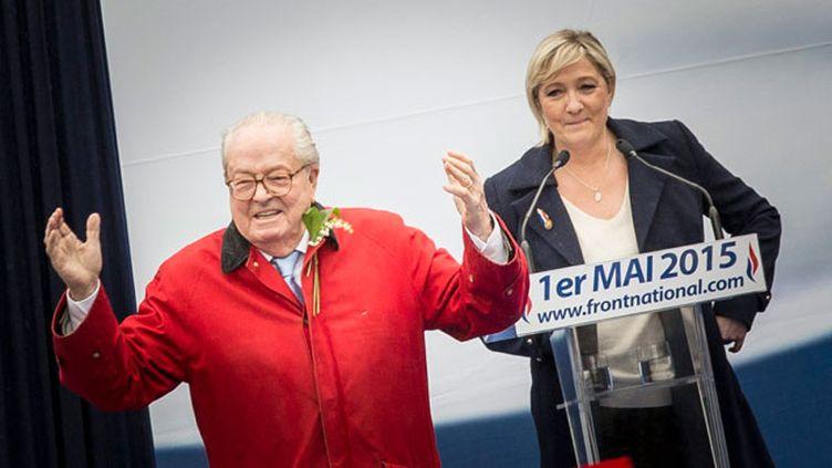 """(La Haute autorité juge """"sous-évaluées"""" les déclarations de patrimoine de Jean-Marie et Marine Le Pen © MaxPPP)"""