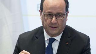 Le président français François Hollande, le 18 mars 2016 à Bruxelles (Belgique). (THIERRY MONASSE / AP / SIPA)