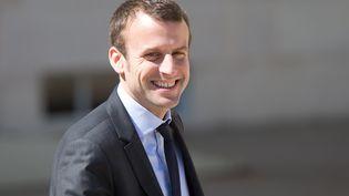 Emmanuel Macron, à la sortie de l'Elysée, le 4 mai 2016. (YANN BOHAC / CITIZENSIDE / AFP)