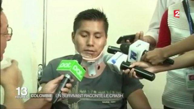 Crash en Colombie : un rescapé témoigne