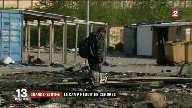 Grande-Synthe : le camp de migrants détruit par un incendie