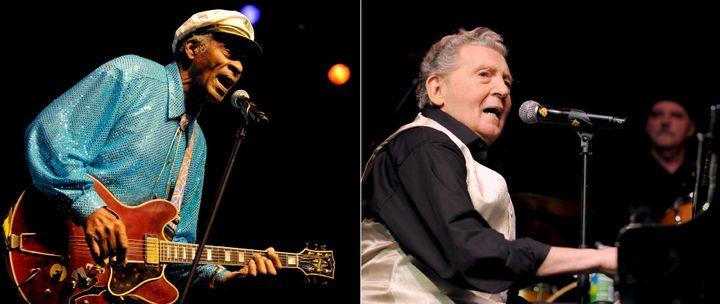 Berry et Lewis ont eu l'occasion de refaire plusieurs tournées ensemble, comme ici à Mannheim le 22 novembre 2008  (RONALD WITTEK/EPA/MaxPPP)