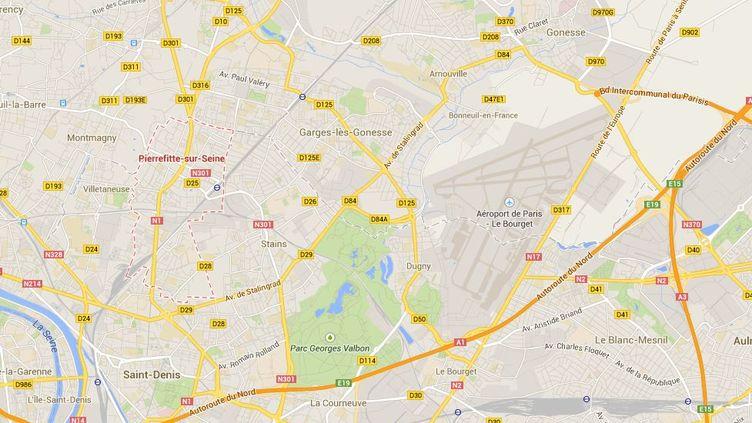 Un groupe de quatre malfaiteurs armés s'est introduit le 19 mai 2014 au domicile de la mère de Joey Starr, à Pierrefitte-sur-Seine (Seine-Saint-Denis). (GOOGLE MAPS)