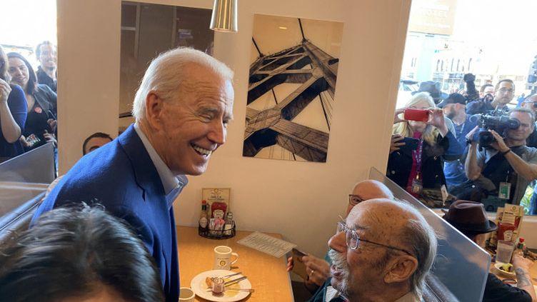 Joe Biden en campagne en Californie, en 2020. (GRÉGORY PHILIPPS / FRANCE-INFO)