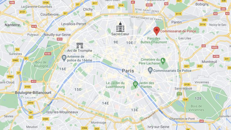 Le plaignant dénonce des faits qui se seraient produits au sein du commissariat du 19e arrondissement de Paris, dans l'est de la capitale. (GOOGLE MAPS)