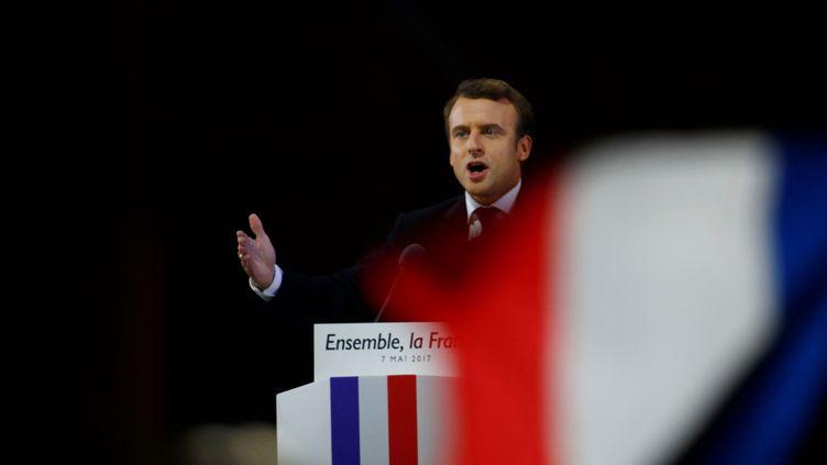 Emmanuel Macron au Louvre en 2017. (AFP)