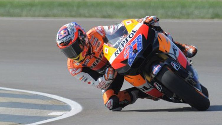L'Australien Casey Stoner sur sa Honda