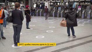 Réaménagement dans les gares pour le déconfinement (FRANCEINFO)