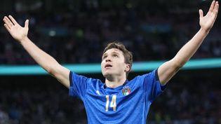 Federico Chiesa a libéré l'Italie en demi-finale de l'Euro 2021 contre l'Espagne le 6 juillet 2021 à Londres. (FRANK AUGSTEIN / AFP)