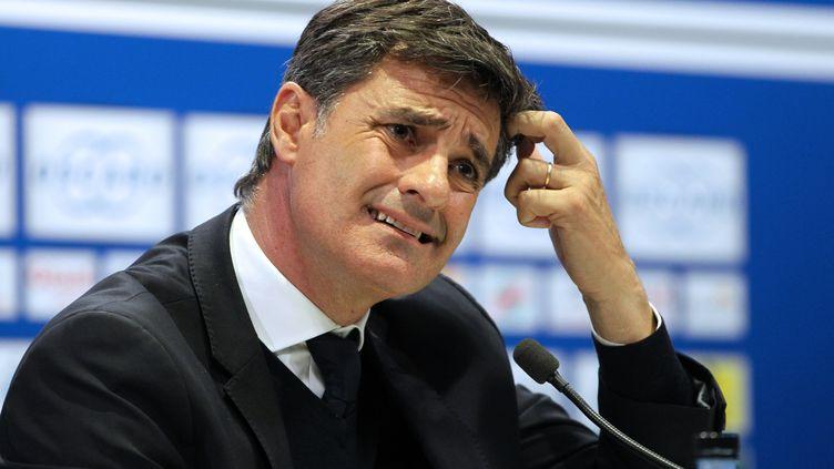 L'entraîneur espagnol de l'OM, Michel, n'a pas apprécié les propos de Basile Boli.  (PASCAL POCHARD-CASABIANCA / AFP)