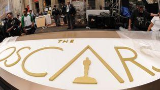 Sur le parvis des Oscars 2014, quelques heures avant le tapis rouge  (ROBYN BECK / AFP)
