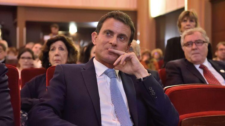 Manuel Valls, le 7 mai 2017 à la Maison de la chimie, à Paris. (EREZ LICHTFELD / SIPA)