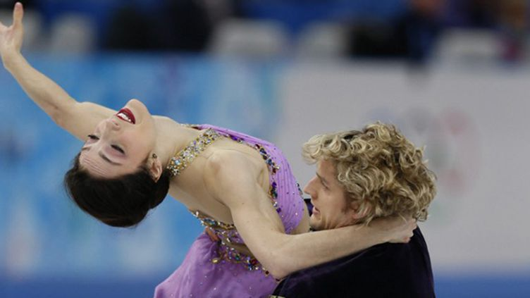 Davis-White, le couple en or de la danse sur glace à Sotchi (ADRIAN DENNIS / AFP)