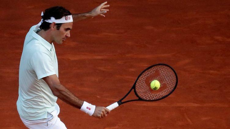 Roger Federer lors de sa dernière participation au Masters 1000 de Madrid, le 10 mai 2019.  (BURAK AKBULUT / ANADOLU AGENCY)