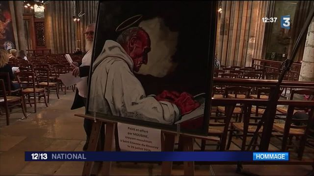 Rouen : une messe en hommage au père Jacques Hamel