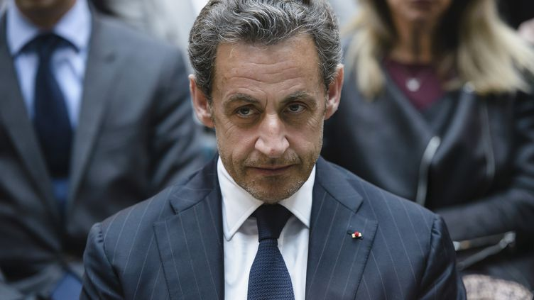 Nicolas Sarkozy, le 28 février 2014 à Berlin. (CLEMENS BILAN / AFP)