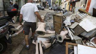 Après les inondations, à Cannes (Alpes-Maritimes), le 5 octobre 2015. (LIONEL CIRONNEAU / AP / SIPA / AP)