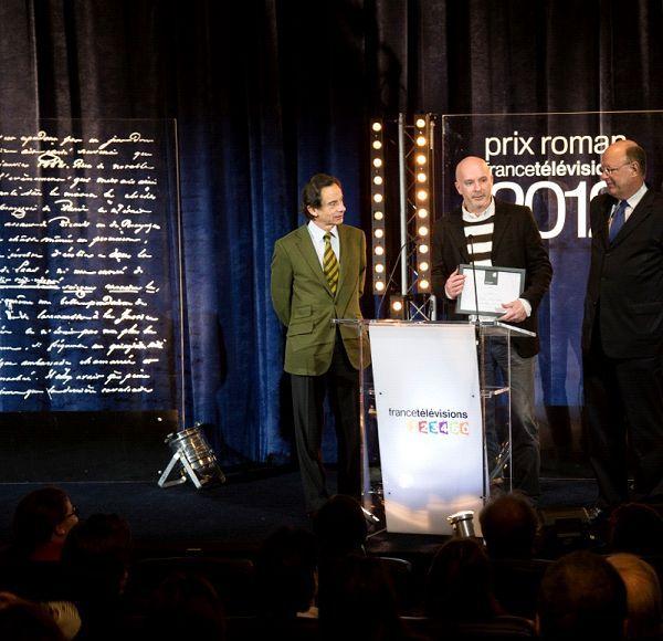 Antoine Choplin, aux côtés de Rémy Pflimlin et Olivier Barrot  (Vincent PANCOL)