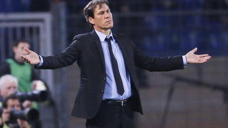 Rudi Garcia, l'entraîneur de l'OM, lors de la défaite à Montpellier. (SPEICH FREDERIC / MAXPPP)
