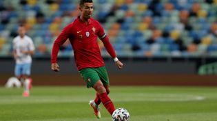Cristiano Ronaldo avec le Portugal, le 9 juin 2021. (PEDRO FIUZA / NURPHOTO / AFP)