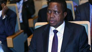 Le président de la Zambie, Edgar Lungu participe à une réunion de l'Union africaine à Addis Abeba le 17 janvier 2019. (MINASSE WONDIMU HAILU / ANADOLU AGENCY)