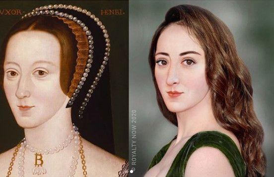 Ladeuxième épouse du roi d'Angleterre Henri VIII, imaginéauXXIe siècle. (© Royalty Now 2020)
