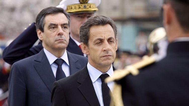 Nicolas Sarkozy lors d'une conférence au sommet France-Afrique de Nice le 1er juin 2010 (AFP - VALERY HACHE)