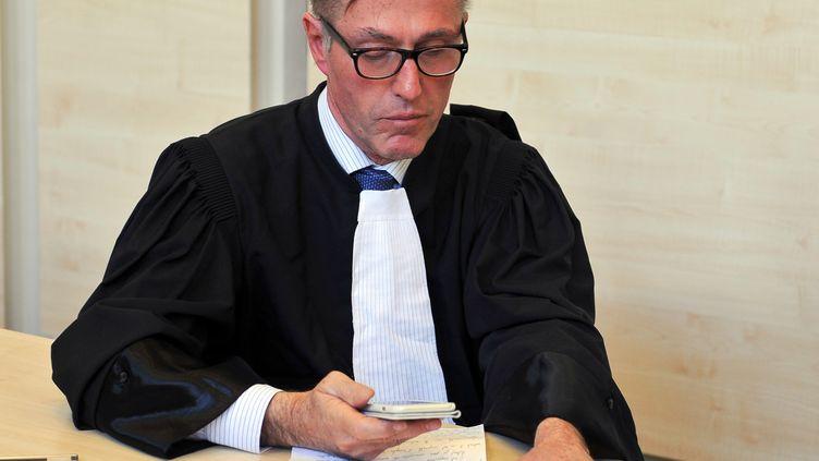 """Maître Dominique Tricaud en 2015, lors du procès des """"mariages chinois"""" de la mairie de Tours. (GUILLAUME SOUVANT / AFP)"""