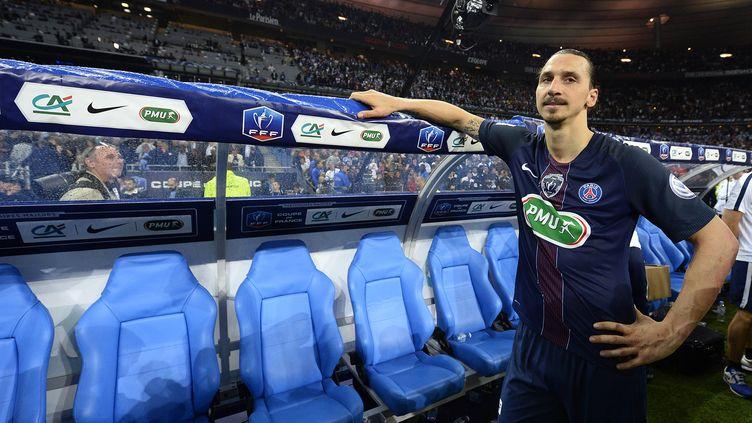 Zlatan Ibrahimovic lors de son dernier match avec le PSG en finale de la Coupe de France (FRANCK FIFE / AFP)