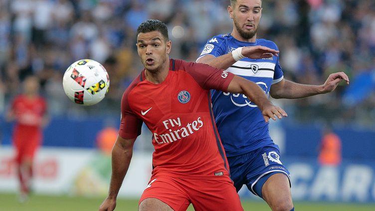 Hatem Ben Arfa a été plutôt discret pour son premier match avec Paris (PASCAL POCHARD CASABIANCA / AFP)