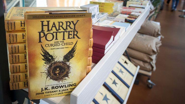 """Harry Potter and the cursed child"" (Harry Potter et l'enfant maudit) en vente à New York (11 août 2016)  (Richard B. Levine / Newscom / Sipa)"