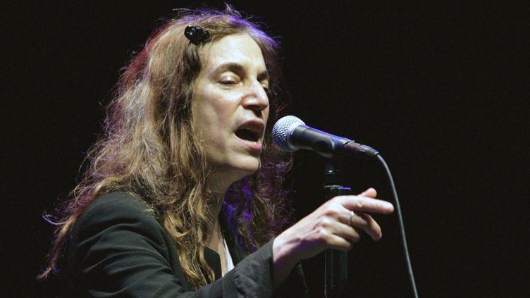 Patti Smith en 2010, une grande voix légendaire du rock. (JUAN FRANCISCO MORENO / EFE)