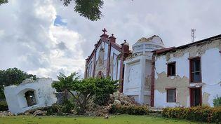 L'église Santa Maria de Mayan, à Itbayat, aux Philippines, détruite par deux séismes successifs, samedi 27 juillet 2019. (DOMINIC DE SAGON ASA / COURTESY OF DOMINIC DE SAGON ASA / APF)