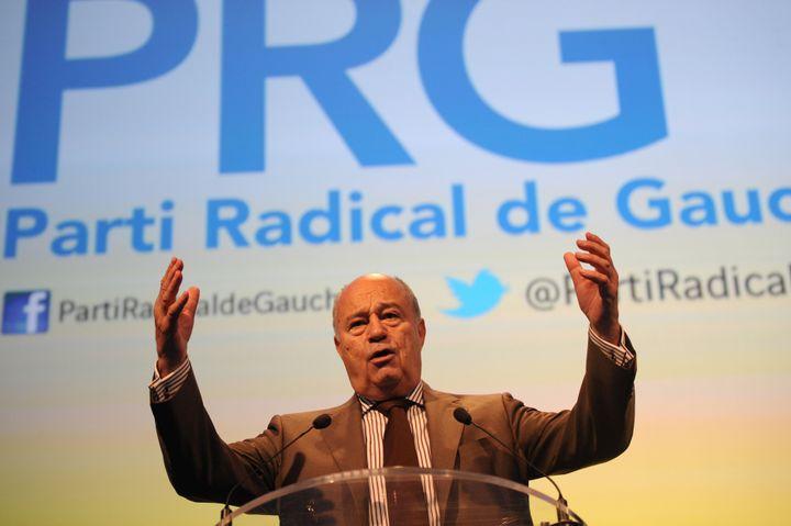 Le président du Parti radical de gauche, Jean-Michel Baylet, le 19 septembre 2015 à Montpellier. (SYLVAIN THOMAS / AFP)