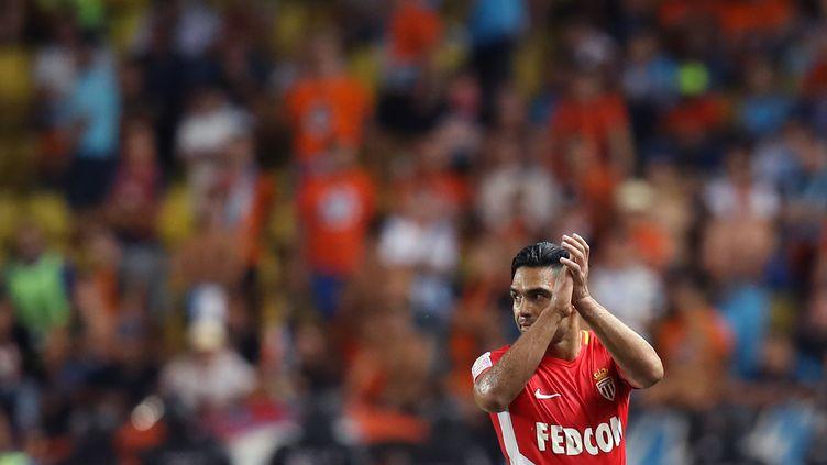 L'attaquant de Monaco Radamel Falcao (VALERY HACHE / AFP)
