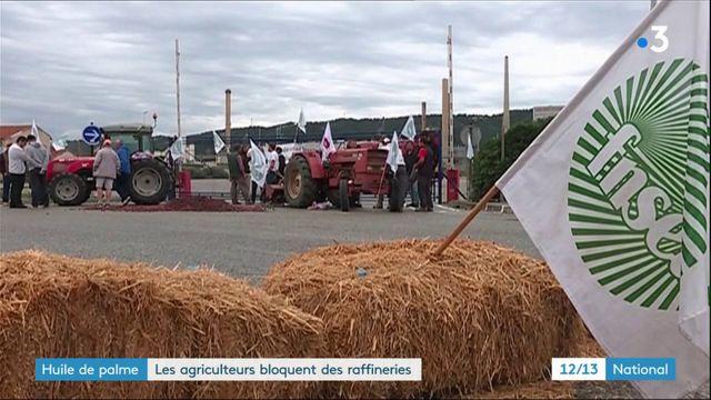 Biocarburants : les agriculteurs bloquent des raffineries