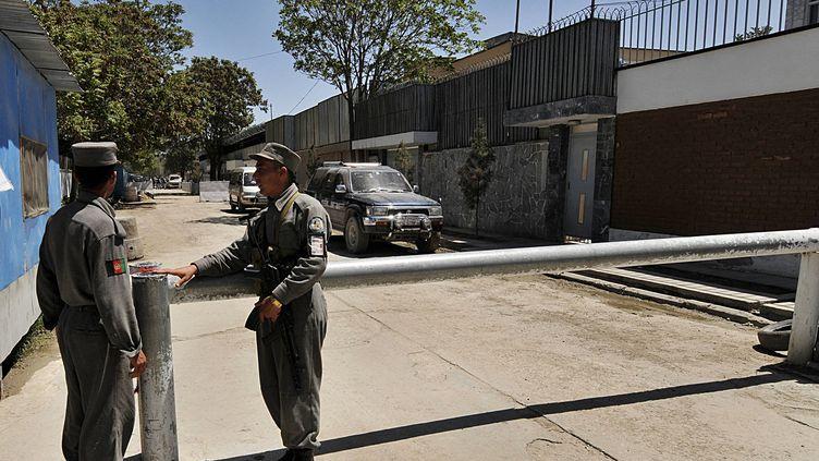 L'ambassade du Danemark à Kaboul (Afghanistan), le 24 avril 2008. (SHAH MARAI / AFP)
