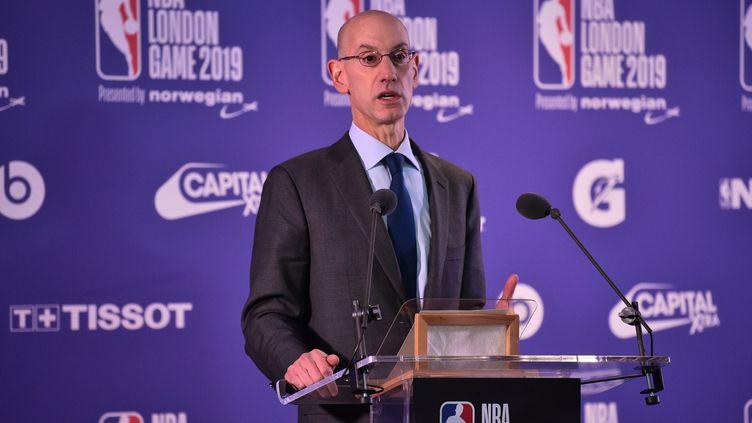 Le patron de la NBA Adam Silver, le 17 janvier 2019 à Londres (Royaume-Uni). (GLYN KIRK / AFP)