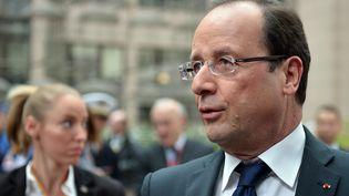 François Hollande, le 19 octobre 2012 à Bruxelles (Belgique) pour le sommet des dirigeants européens. (BERTRAND LANGLOIS / AFP)