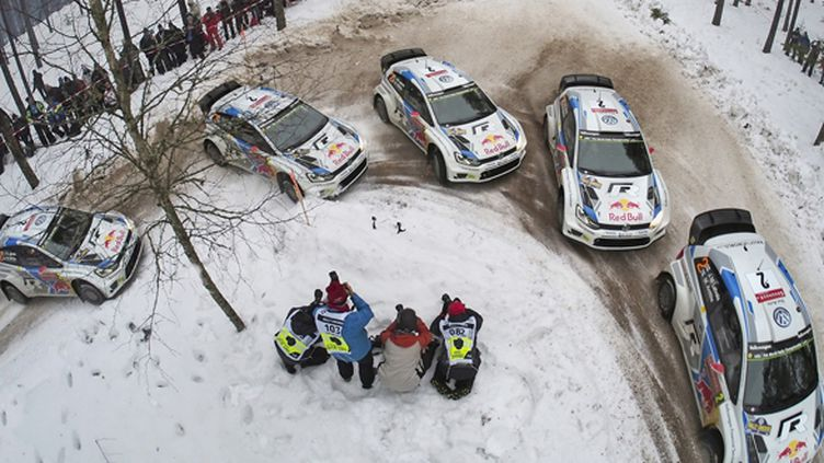 Jari-Matti Latvala (Volkswagen) se rapproche de la victoire en Suède (BILDAGENTUR KRÄLING / BILDAGENTUR KRÄLING)