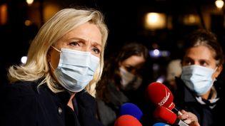Marine Le Pen, présidente du Rassemblement national, à Paris le 27 octobre 2020 (LUDOVIC MARIN / AFP)