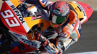 L'Espagnol Marc Marquez (Honda) va manquer le début de la saison 2021 (AFP - JAVIER SORIANO) (JAVIER SORIANO / AFP)