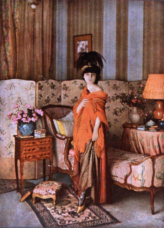 Autochrome Anna de Noailles (1913) par Desmoulins  (CCI / The Art Archive / The Picture Desk )