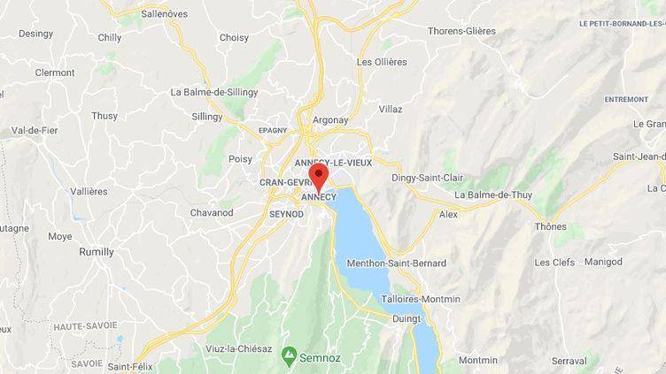La région d'Annecy (Haute-Savoie) (GOOGLE MAPS)