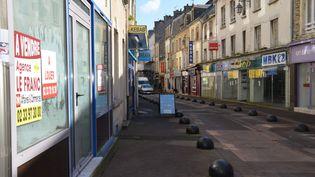 Les commerces du centre-ville de Cherbourg ferment les uns après les autres. (KATELL MORIN / MAXPPP)