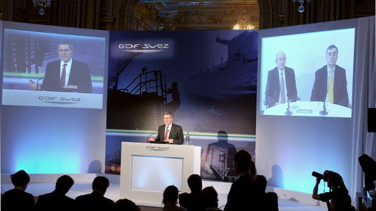 Gérard Mestrallet, PDG de GDF-Suez, lors d'une conférence de presse en décembre 2010 (AFP/ERIC PIERMONT)