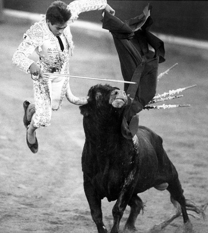 """""""Chamaco"""" en 1992 à la Feria del Pilar - Saragosse  (JAVIER CEBOLLADA/EFE/Newscom/MaxPPP)"""