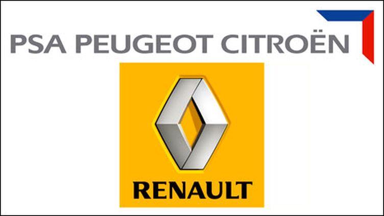 Les logos des deux entreprises (montage)
